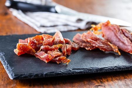 dried chicken meat tasty jerky meat