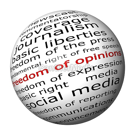 freedom of opinions wordcloud