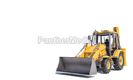 excavator scraper on the white background