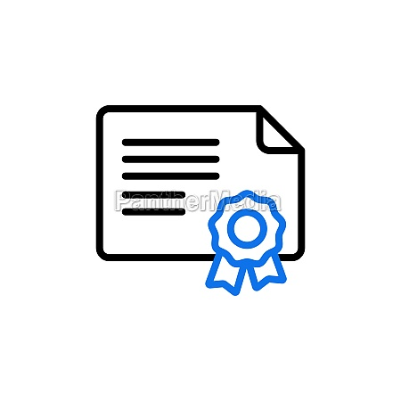 certified vector icon isolated on the