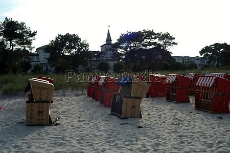 beach chair at the baltic sea