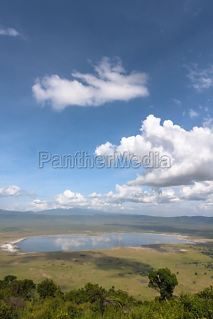 landscape of ngorongoro crater the lake