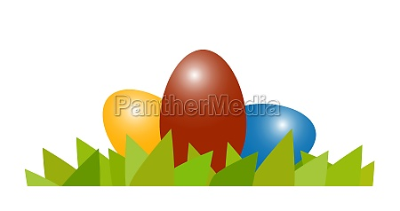 happy easter eggs colored