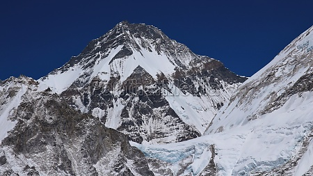 high mountain in the himalayas khumbutse