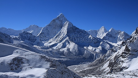 ama dablam after new snowfall