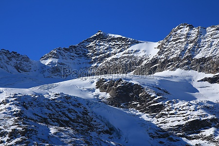 view from the bernina mountain pass