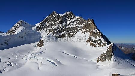 mt jungfrau view from the jungfraujoch