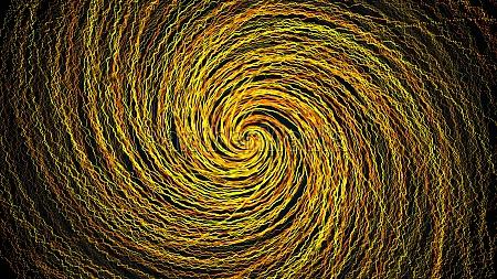 twist of random lines computer generated