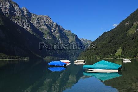 boats on lake klontalersee