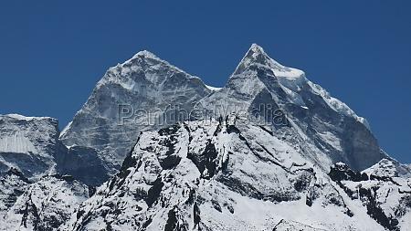snow covered mountain kangtega