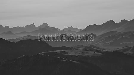 view from mt niesen swiss alps