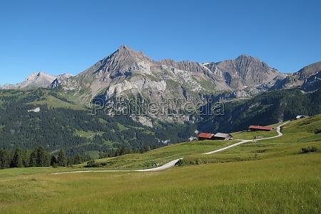 beautiful landscape in gsteig bei gstaad