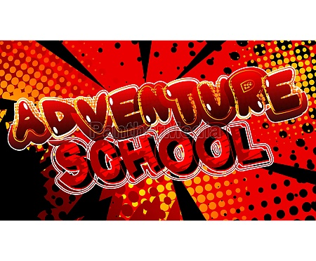 adventure school comic book style