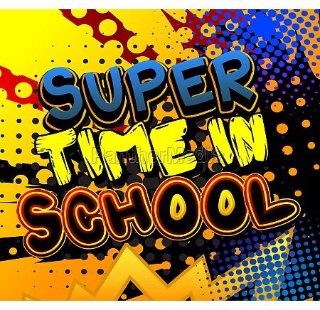 super time in school comic