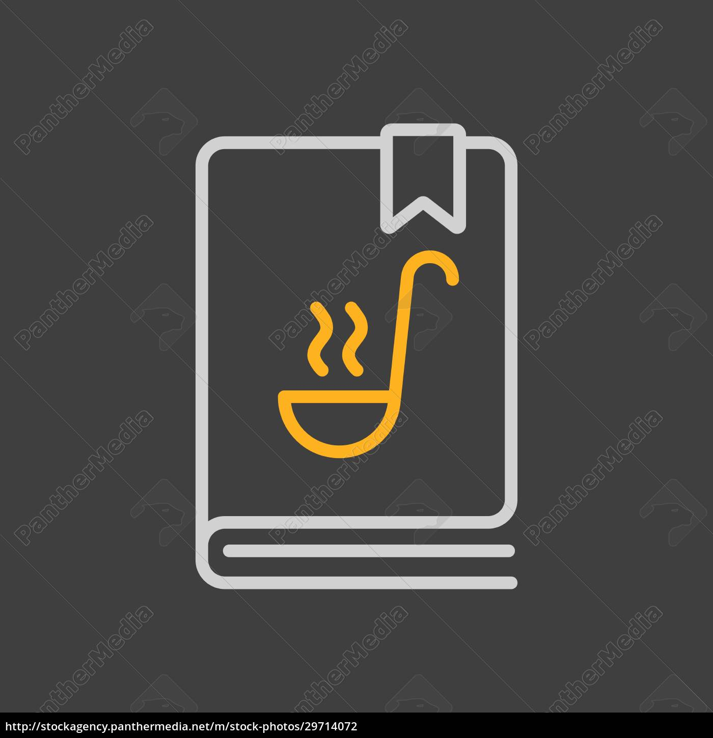 cookbook, or, cookery, book, vector, icon. - 29714072