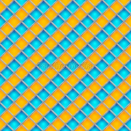 mosaic background orange blue illustration
