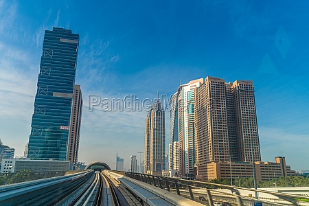 uae dubai skyline visible from the
