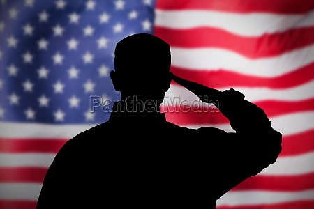 us military soldier saluting flag national