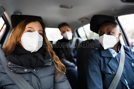 carpool ride share friends enjoy taxi