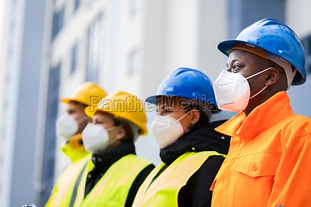 factory engineers or construction workers