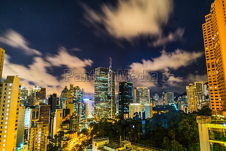 of the skyscrapers of hong kong