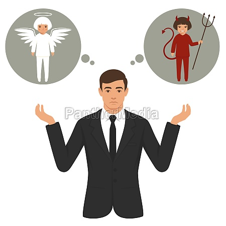 devil and angel businessman