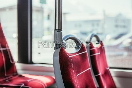 interior of a public transport blurry