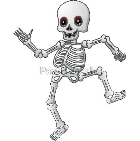 cute skeleton cartoon