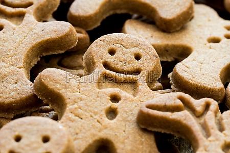 plain gingerbread man close up