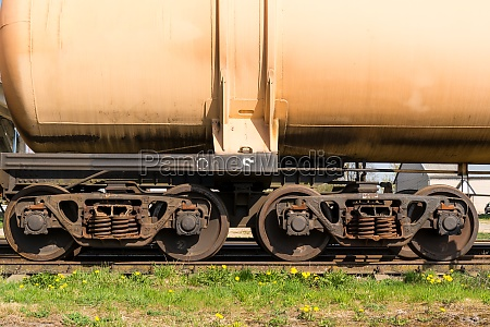 wheels of freight train
