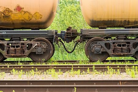 oil tanker cars on the railway