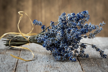 bouquet from dried lavender