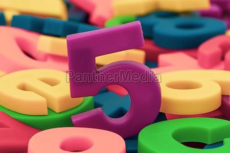 purple number 5