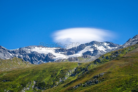 alpine glaciers and mountains landscape in