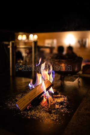 open fireplace in a cosy restaurant