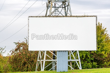 blank billboard beside the high voltage