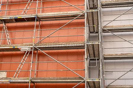 building walls under renovation