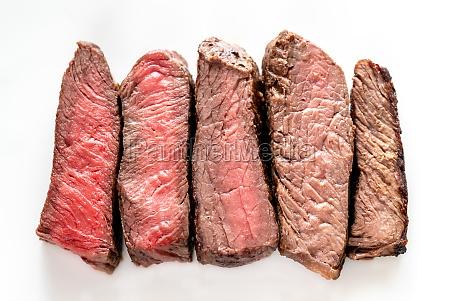 beef steak degrees of doneness