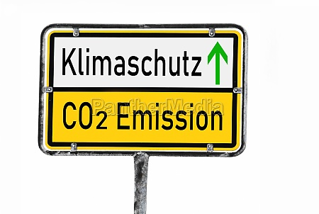 a sign with away with co2