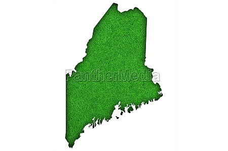 map of maine on green felt