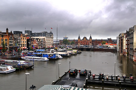 view of amsterdam mit amsterdam centraal