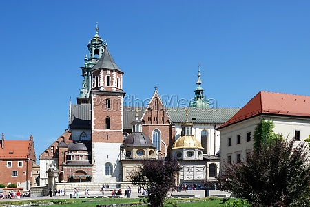cathedral at wawel hill of krakow