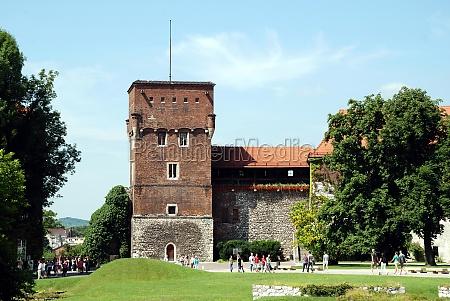wawel hill of krakow poland