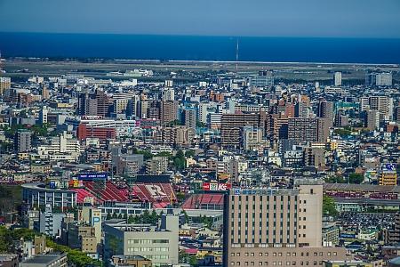 sendai city skyline of fine weather