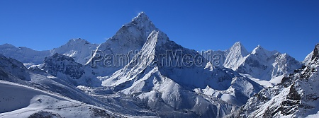 mount ama dablam after new snowfall