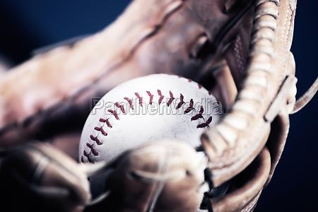 old vintage baseball background shallow focus