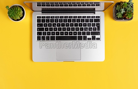 laptop and modern gadgets on a