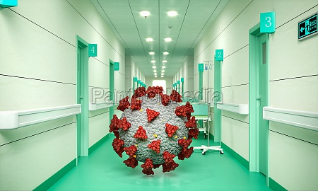 covid 19 virus inside a hospital