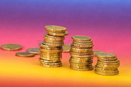 coins in closeup