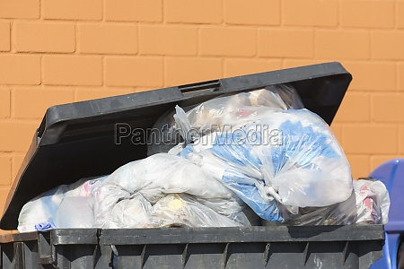 a full dump container